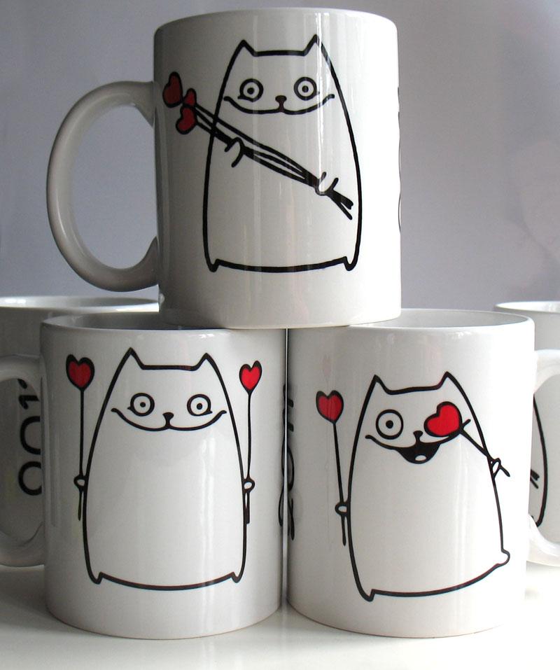 Чашки нарисованные своими руками